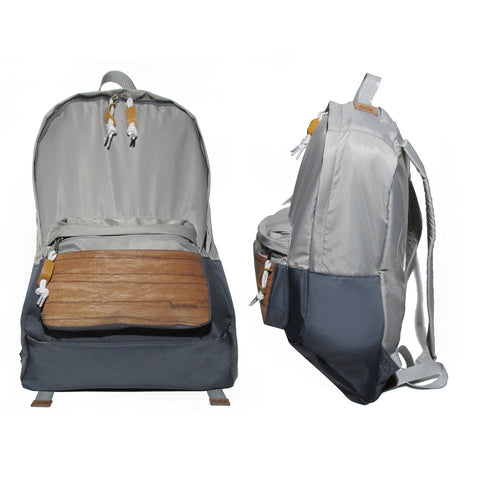 Supersoft Nylon Wood Backpack SW2: Silver/Grey