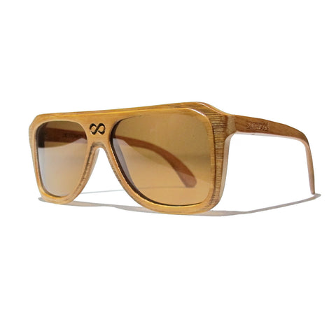 Chase Bamboo Wood Polarized Aviators