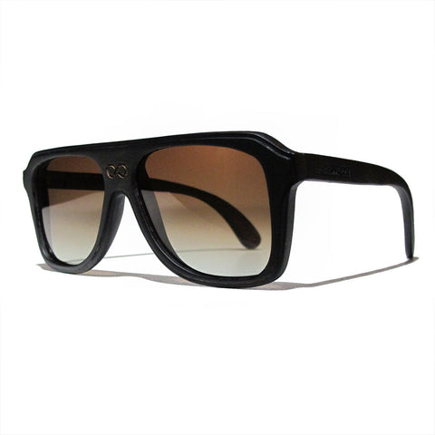 Chase Ebony Wood Polarized Aviators