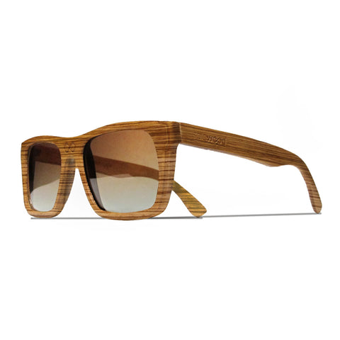 Collins Zebra Wood Polarized Frames