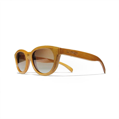 Euclid Bamboo Wood Polarized Frames: WOMEN