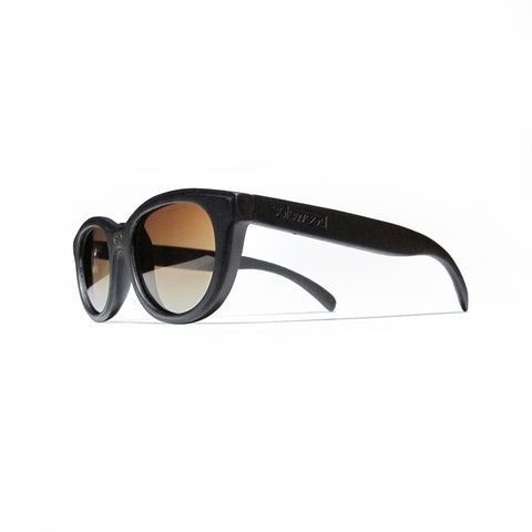 Euclid Ebony Wood Polarized Frames: WOMEN