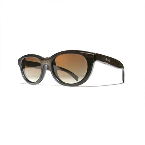 Euclid Handscraped Dark Zebra Wood Polarized Frames: WOMEN