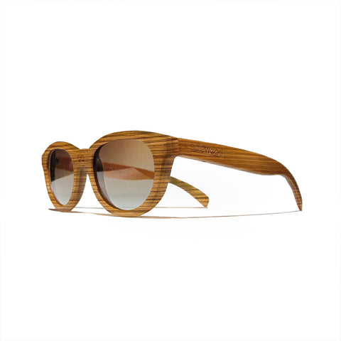 Euclid Zebra Wood Polarized Frames: WOMEN