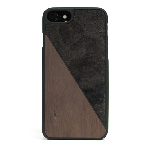 iPhone 7 Case Non Slip Pony Camo / Walnut Wood Ultra Light Soft Touch PC