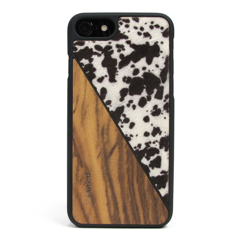 iPhone 7 Case Non Slip Spotted Pony Hair / Zebra Wood Ultra Light Soft Touch PC