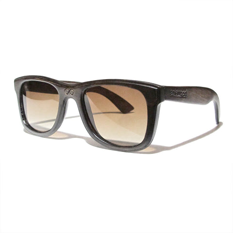Lenox Handscraped Dark Zebra Wood Polarized Frames