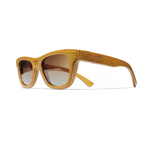 Lincoln Bamboo Wood Polarized Frames: WOMEN
