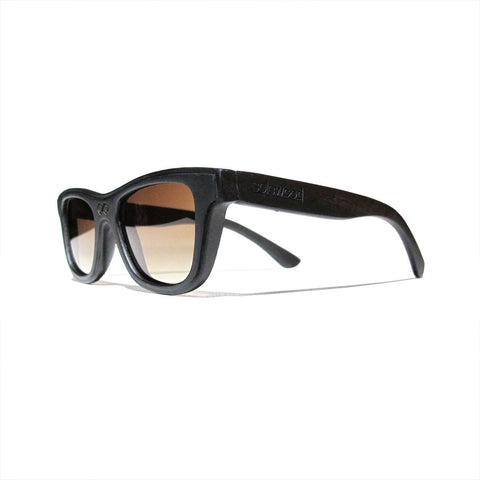 Lincoln Ebony Wood Polarized Frames: WOMEN
