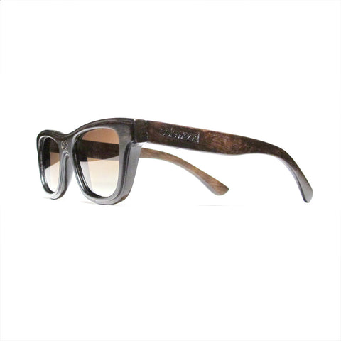 Lincoln Handscraped Dark Zebra Wood Polarized Frames: WOMEN