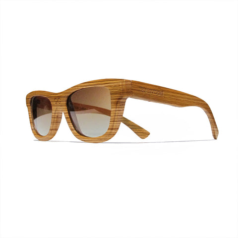 Lincoln Zebra Wood Polarized Frames: WOMEN