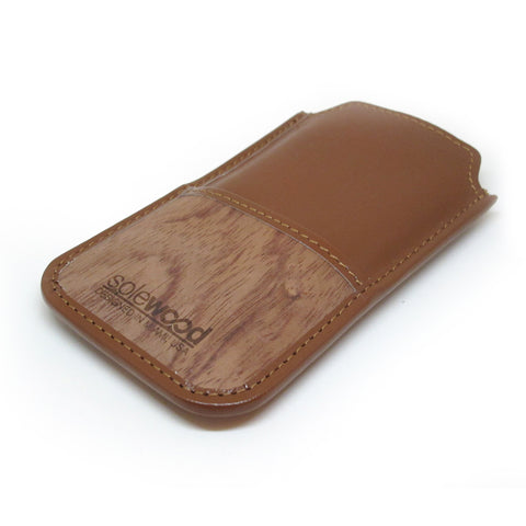 iPhone Leather Wallet: Cognac Veg-Tanned Leather