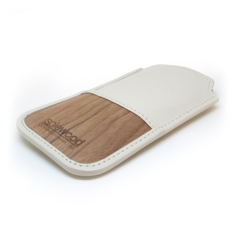 iPhone Leather Wallet: Cream Veg-Tanned Leather