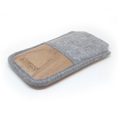 iPhone Wallet: Grey Flannel Natural Wool
