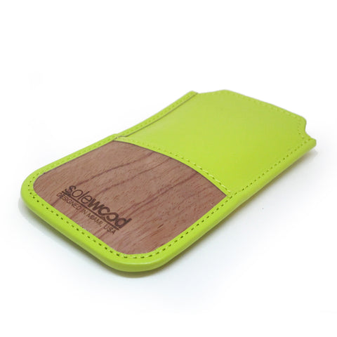iPhone Leather Wallet: Limeade Veg-Tanned Leather