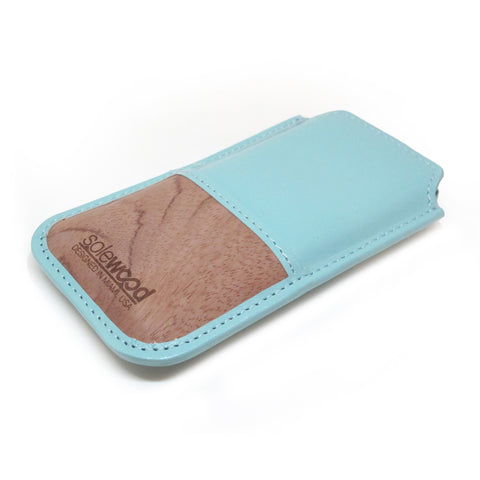 iPhone Leather Wallet: Mint Veg-Tanned Leather