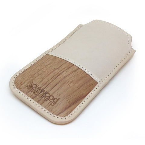 iPhone Leather Wallet: Natural Vacceta Veg-Tanned Leather
