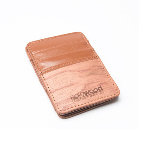 Magic Wood Wallet: Cognac