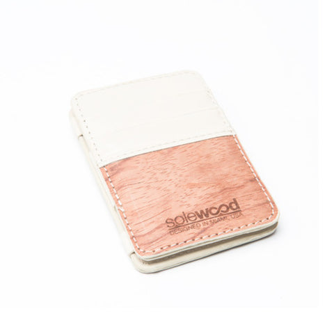 Magic Wood Wallet: Cream
