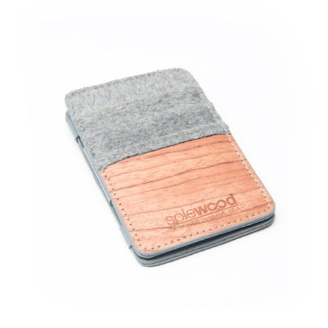 Magic Wood Wallet: Grey Flannel