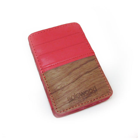 Magic Wood Wallet: Hot Coral
