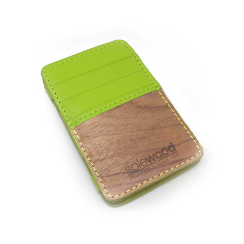 Magic Wood Wallet: Limeade