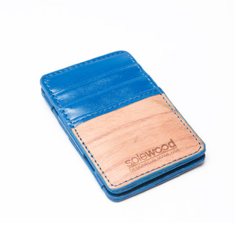 Magic Wood Wallet: Royal Blue