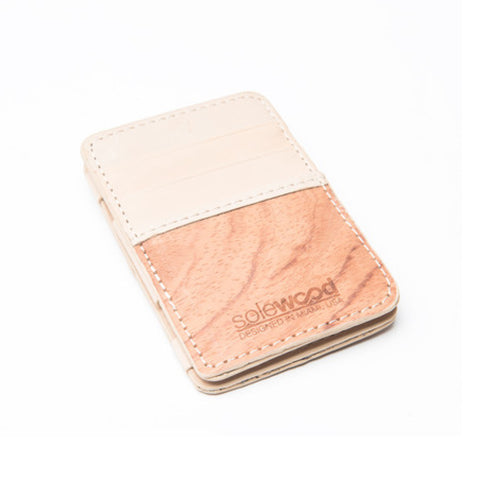 Magic Wood Wallet: Natural Vacceta