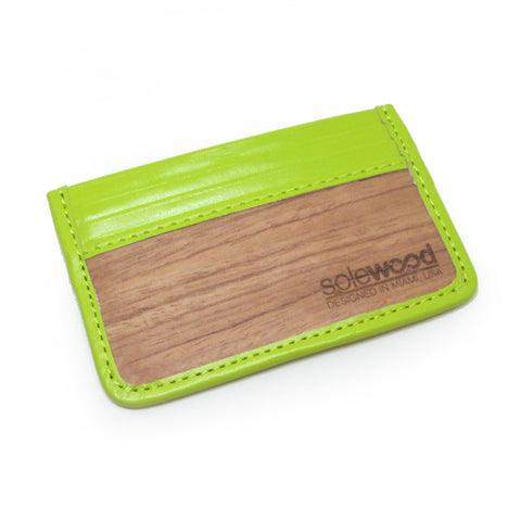Slim-Card Wood Wallet: Limeade
