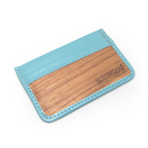 Slim-Card Wood Wallet: Mint