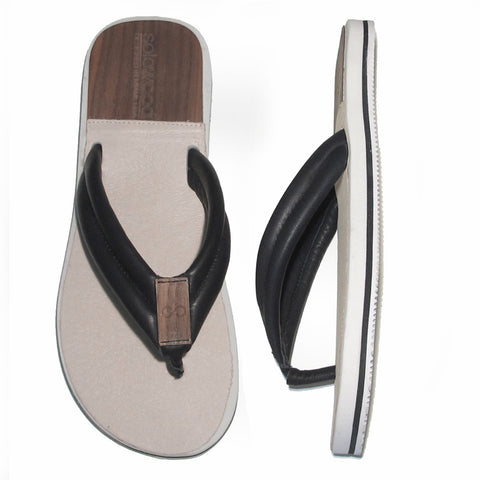 The Standard Sandal: Black Nappa Leather