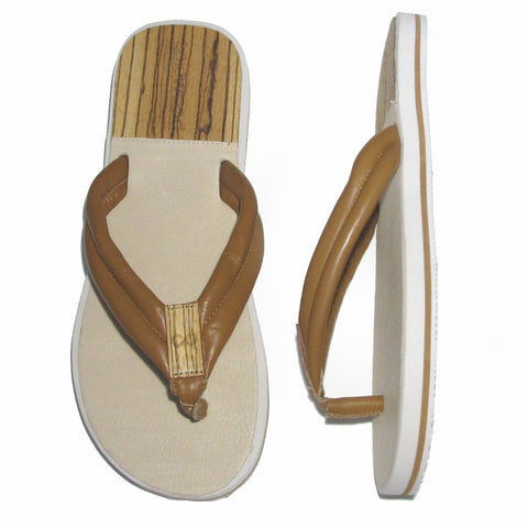 The Standard Sandal: Cognac Nappa Leather