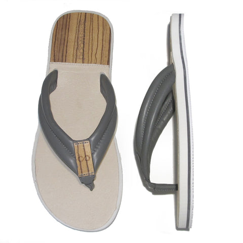 The Standard Sandal: Grey Nappa Leather