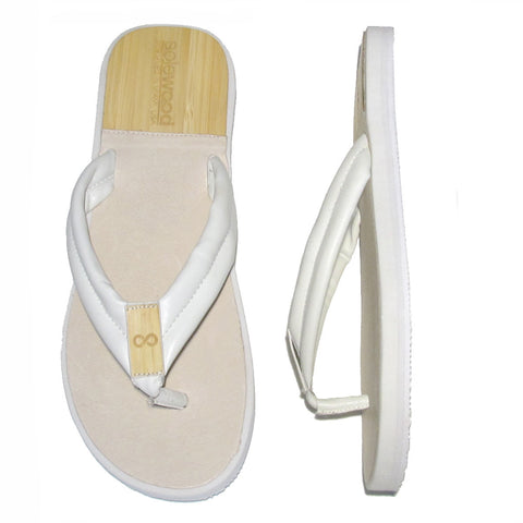 The Standard Sandal: White Nappa Leather