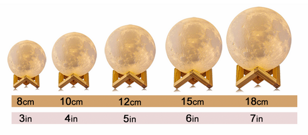 moon lamp sizes