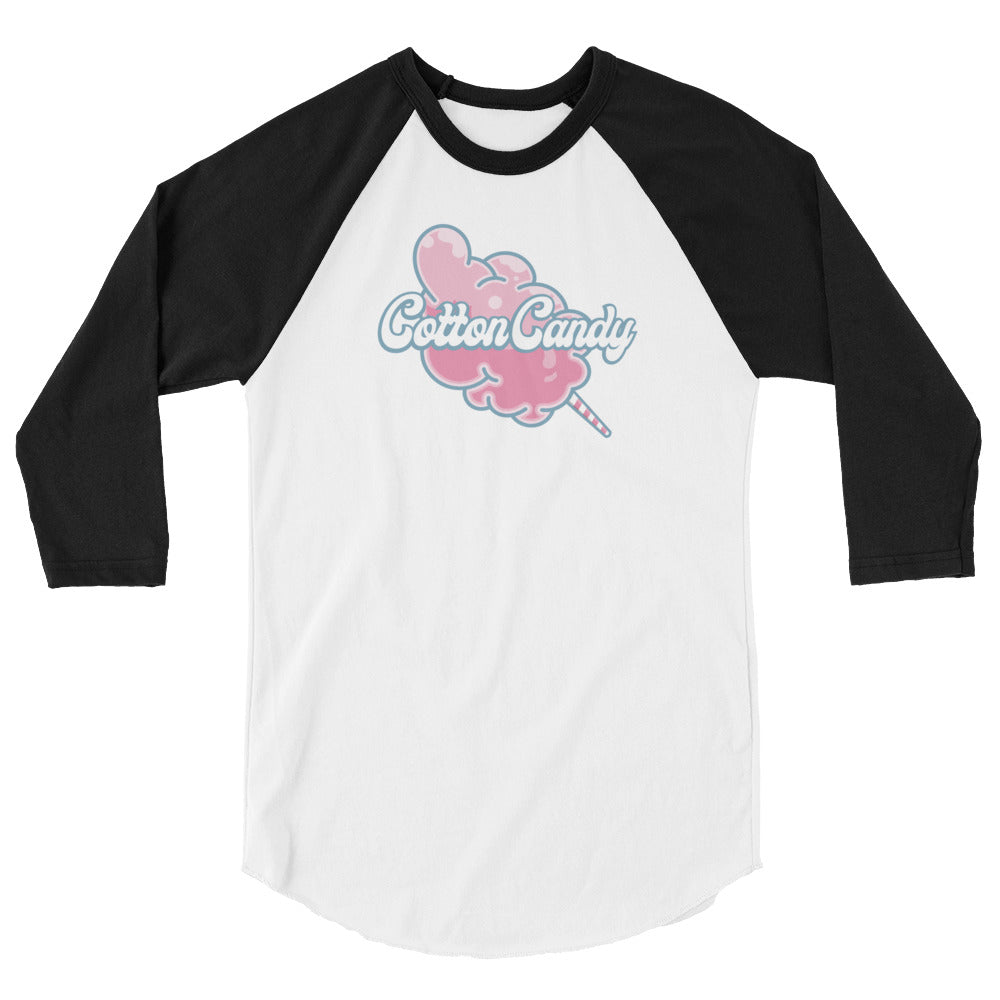 Candy Queen Cotton Candy 3/4 sleeve raglan shirt
