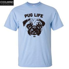100 % Cotton Casual Pug Life Mens T- Shirts