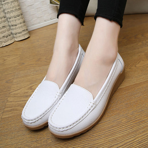 Fashion Shoes  Soft Leather Flats Slip