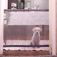 Dog Gate Folding Mesh Magic Guard