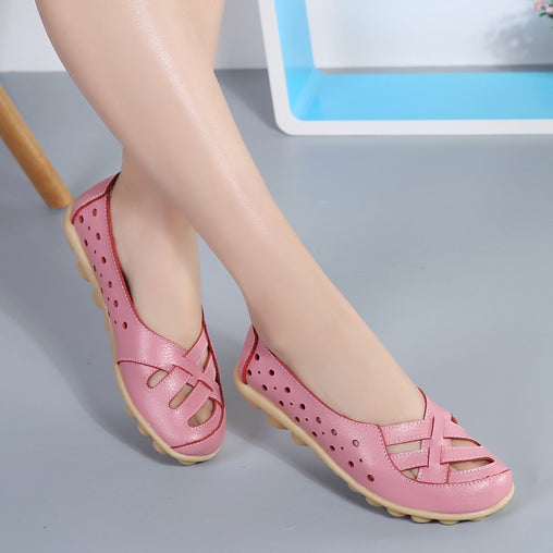Ballet Flats Women Genuine Leather