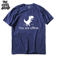 COOLMIND top quality pure cotton men dino tshirt