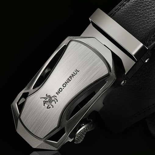 Genuine Leather  Luxury brand Automatic MaleStrap Belts