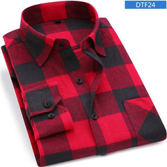 Long Sleeve Shirt  Flannel Plaid 100% Cotton