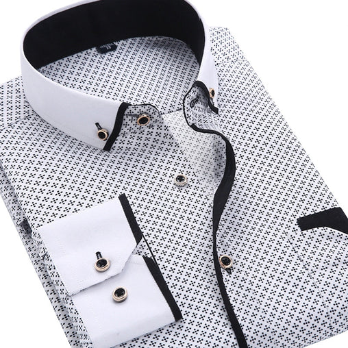 Soft Comfortable and Casual Long Sleeved Printed Shirt for Men