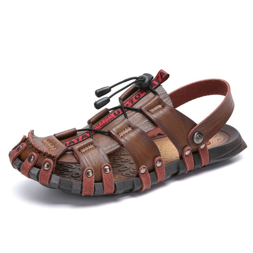 Breathable Leather Men Beach Sandals
