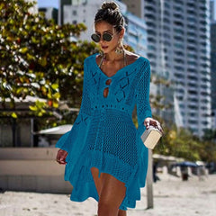 Bikini Cover Up Lace Hollow Crochet Swimsuit