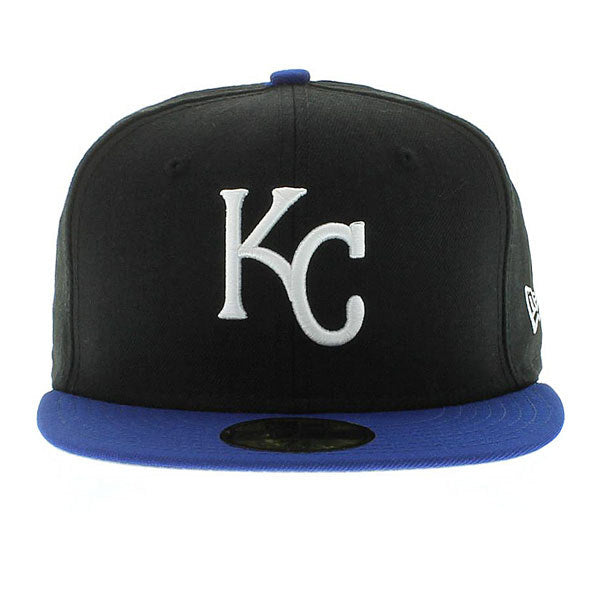 KC Royals Black/Blue Fitted