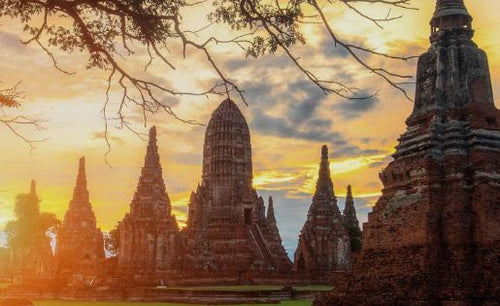 Ayutthaya Day Tour with Sunset Boat Ride from Bangkok: Wat Chaiwatthanaram, Wat Lokayasutharam & More