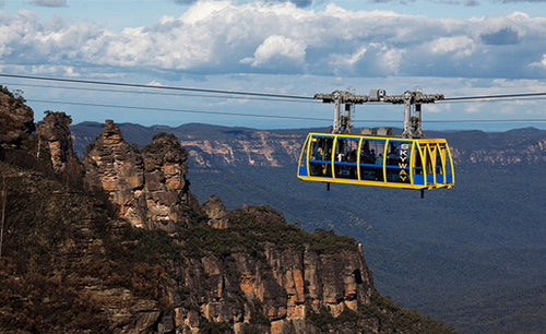 Cheap Sydney Blue Mountains One day skyways, railways and cableways, hop on hop off bus
