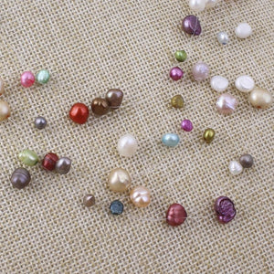 Multi-Colored Layered Pearl Necklace